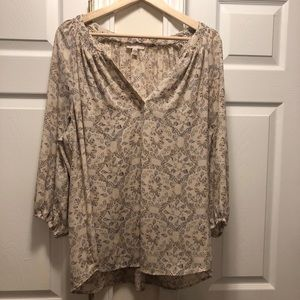 Lila Rose Butterfly Print Blouse